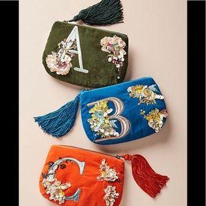 Anthropologie Flowering Embellished Purse